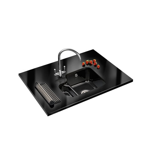 Franke Vbk 160 Undermount Ceramic Black Double Bowl Sink
