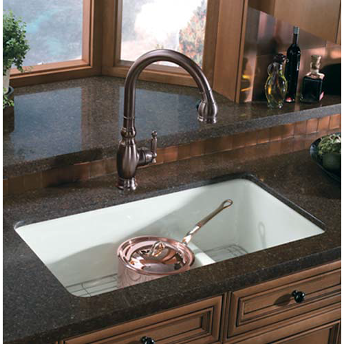 Kitchen Sink Offset From Window: Kohler IRON/TONES 6625W Double Offset Bowl Undermount Or