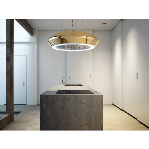 Pando Sky Loop Ceramic Recirculation Island Cooker Hood