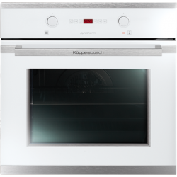 kuppersbusch eeb6260 0wx 60cm built in multi function single oven in white eeb6260 0wx cooking. Black Bedroom Furniture Sets. Home Design Ideas