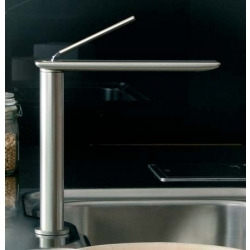 Gessi I-Spa Monoblock Tap with Black Insert Swivel Spout